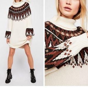 NWOT Free People Scotland Sweater Dress
